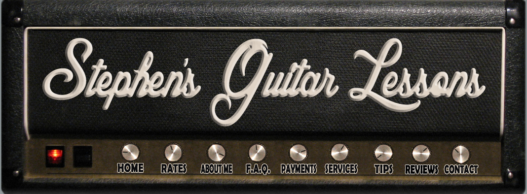 Stephen's Guitar Lessons; guitar amp header